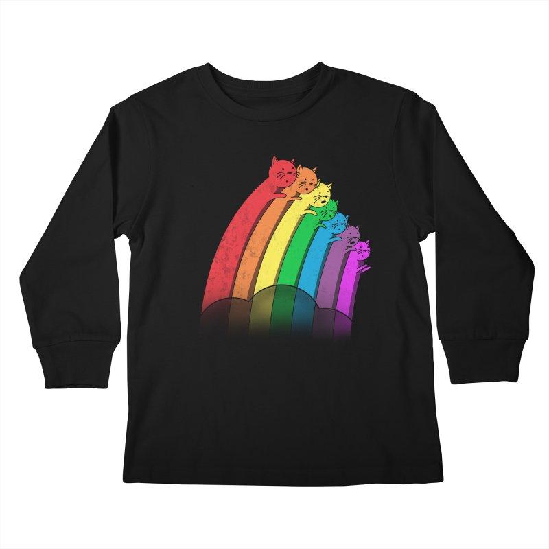 Rainbow Cats Kids Longsleeve T-Shirt by benk's shop
