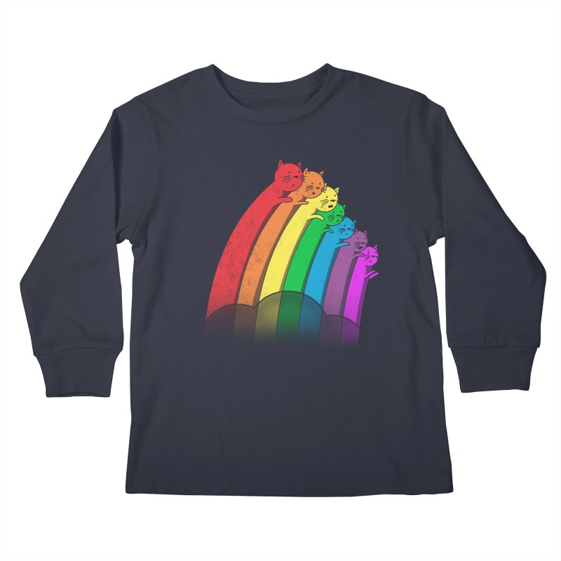 Rainbow Cats Kids Longsleeve T-Shirt by benk's shop