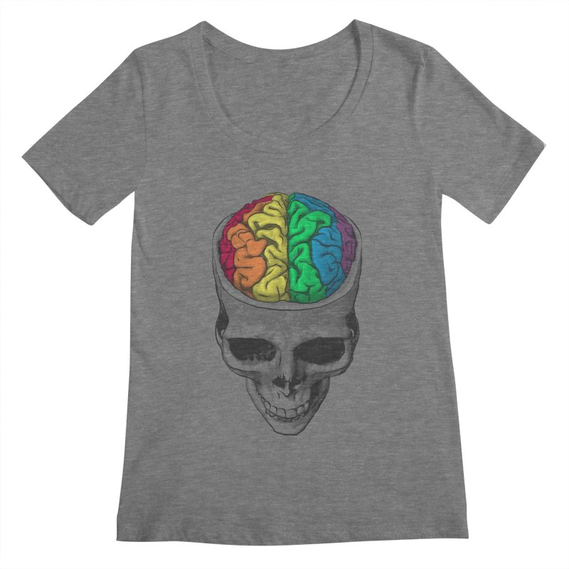 Open Minded Women's Scoopneck by benk's shop