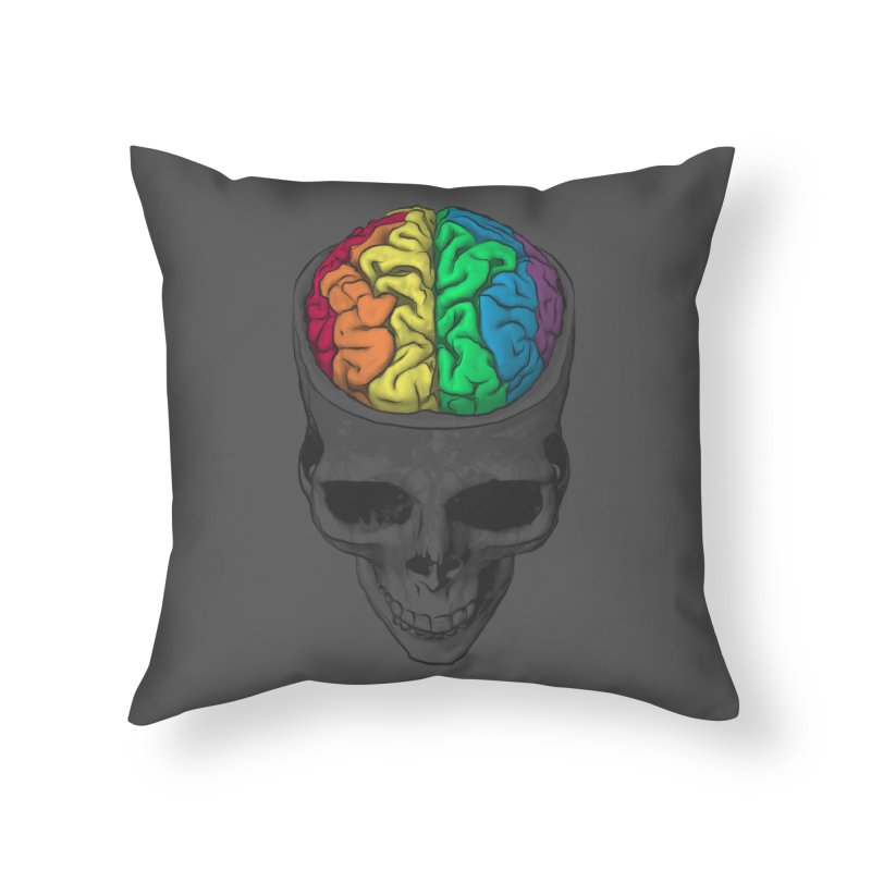 Open Minded Home Throw Pillow by benk's shop