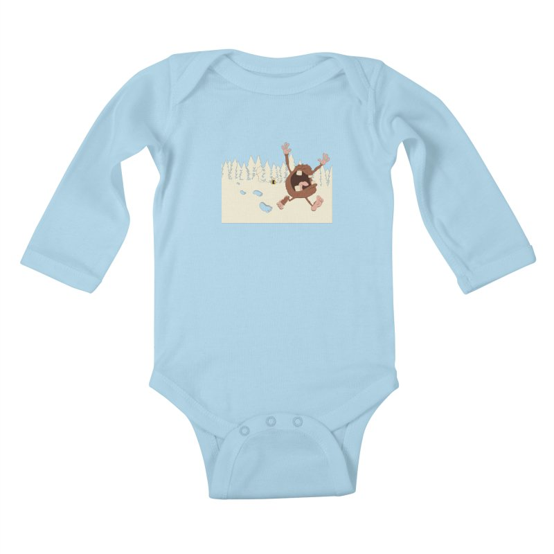 OMG a bee! Kids Baby Longsleeve Bodysuit by Sketchbookery!