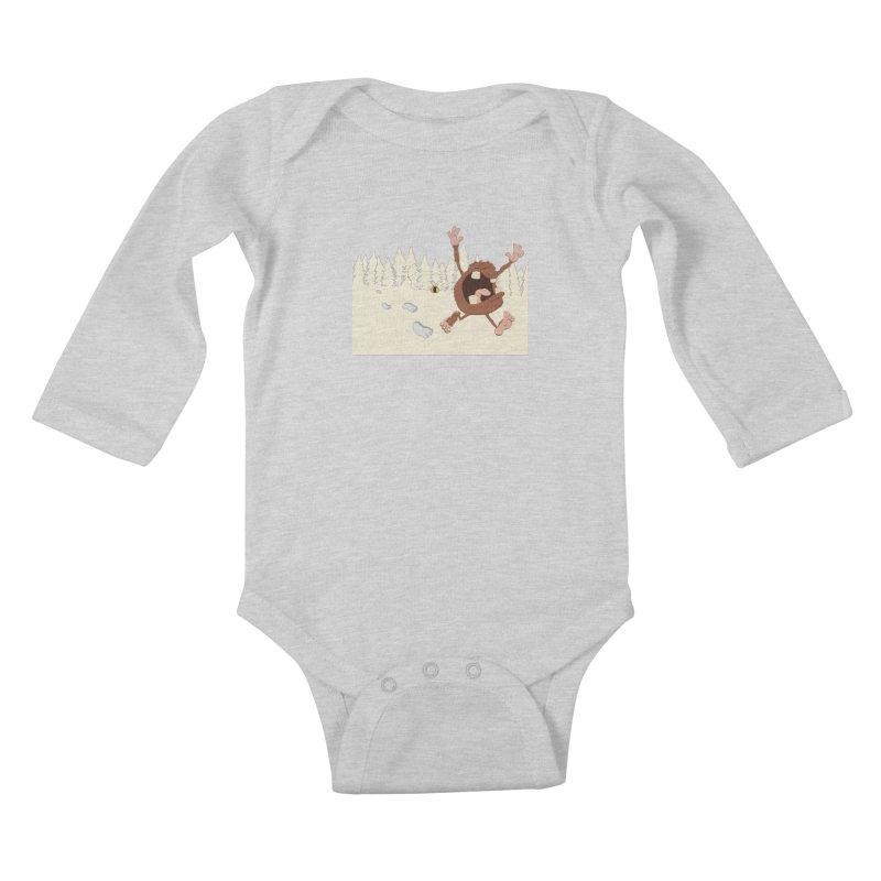 OMG a bee! Kids Baby Longsleeve Bodysuit by Sketchbookery!