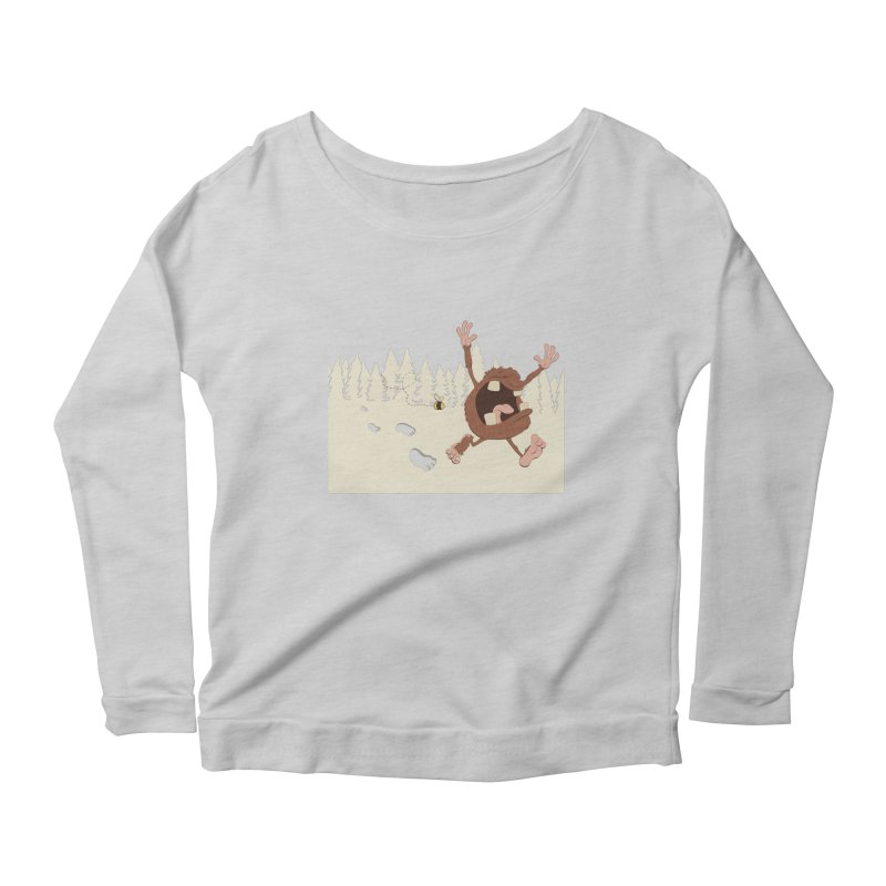 OMG a bee! Women's Longsleeve Scoopneck  by Sketchbookery!