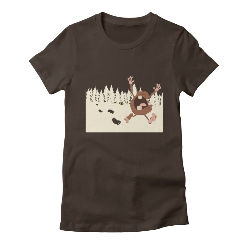 OMG a bee! Women's Fitted T-Shirt by Sketchbookery!