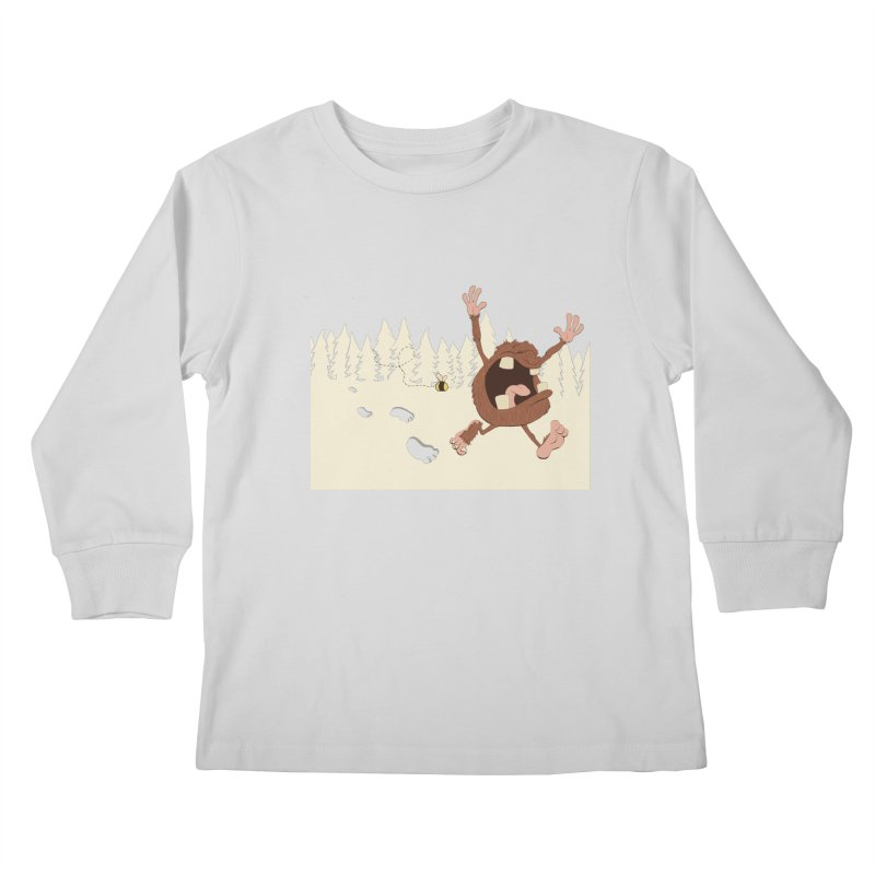 OMG a bee! Kids Longsleeve T-Shirt by Sketchbookery!