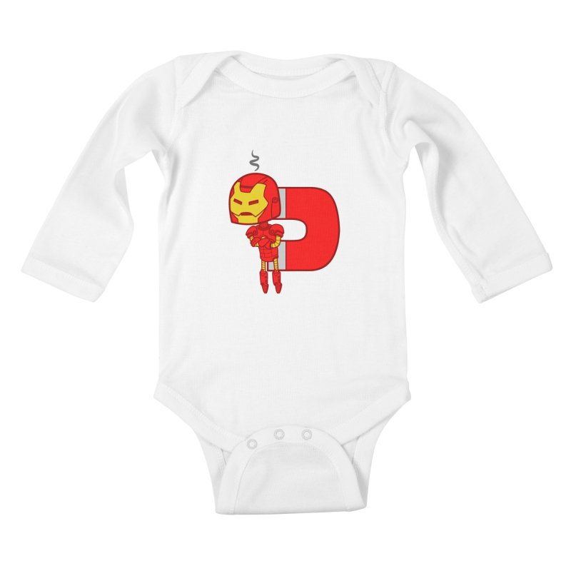 His only weakness Kids Baby Longsleeve Bodysuit by Sketchbookery!