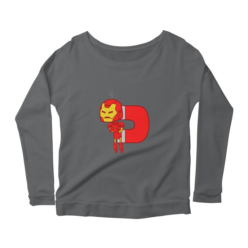 His only weakness Women's Longsleeve Scoopneck  by Sketchbookery!