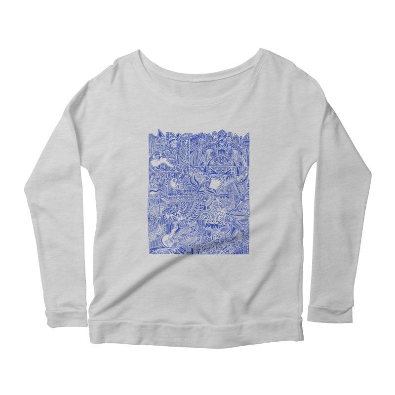 Highschool Math! Women's Longsleeve Scoopneck  by Sketchbookery!