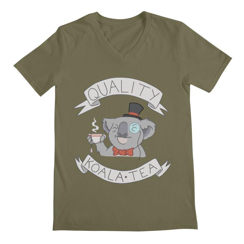 Quality Koala Tea Men's V-Neck by Sketchbookery!