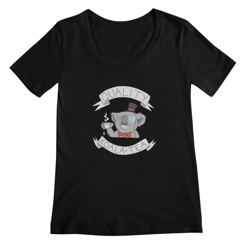 Quality Koala Tea Women's Scoopneck by Sketchbookery!