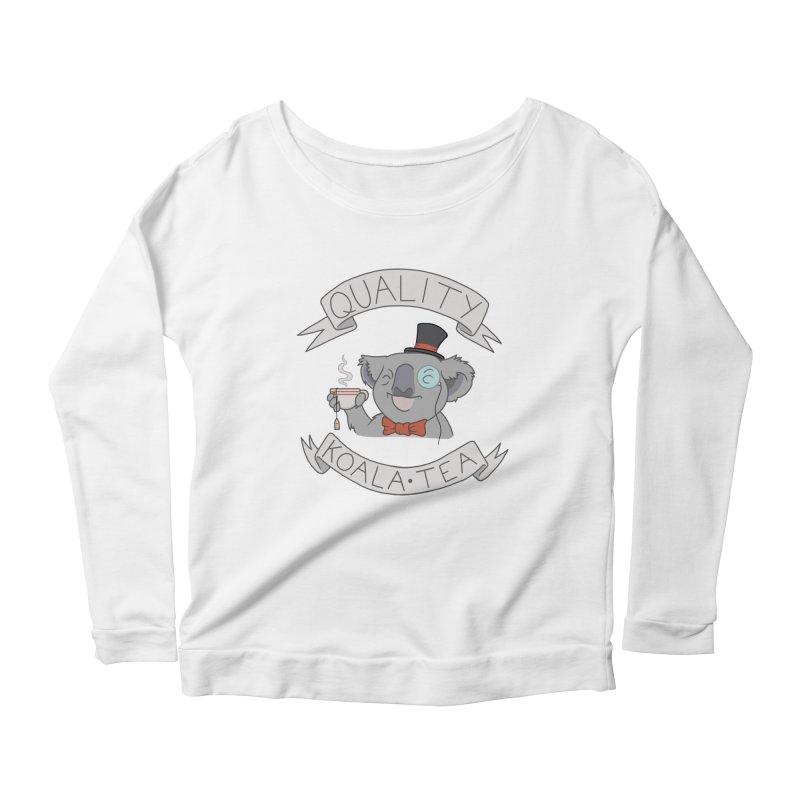 Quality Koala Tea Women's Longsleeve Scoopneck  by Sketchbookery!