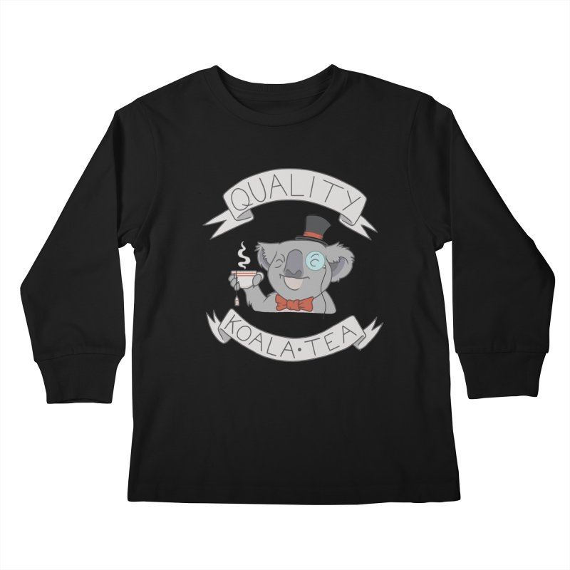 Quality Koala Tea Kids Longsleeve T-Shirt by Sketchbookery!