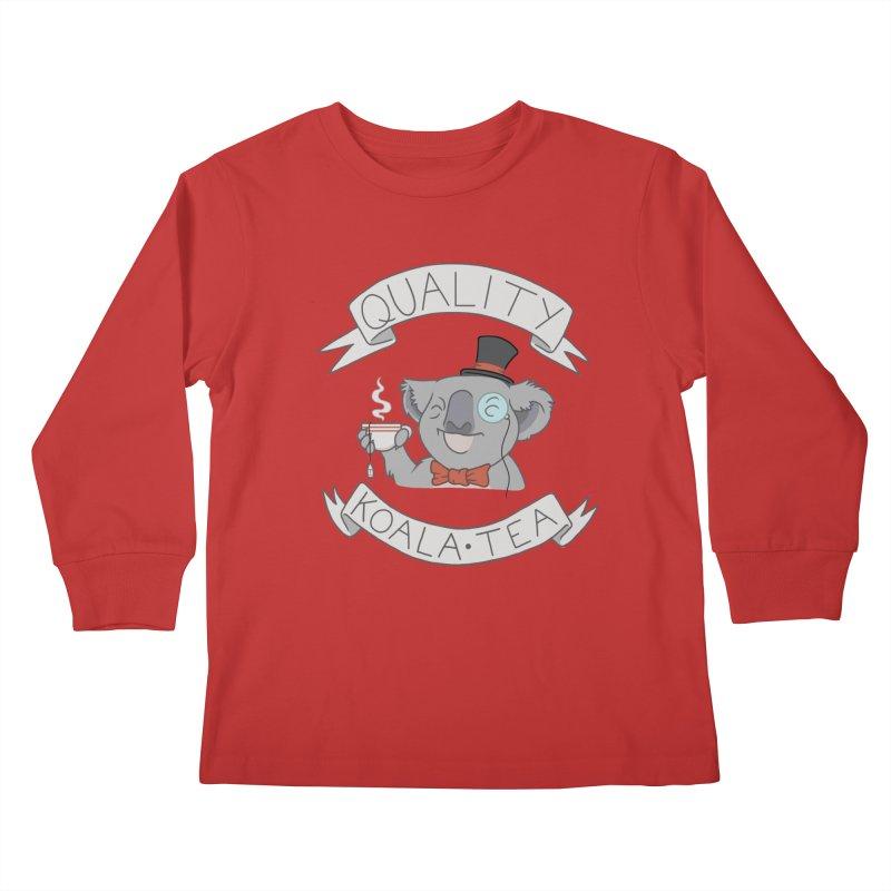 Quality Koala Tea Kids Longsleeve T-Shirt by Sketchbookery!