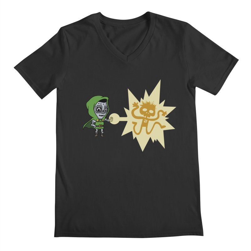 Dr Doom, P.H.D. Men's V-Neck by Sketchbookery!