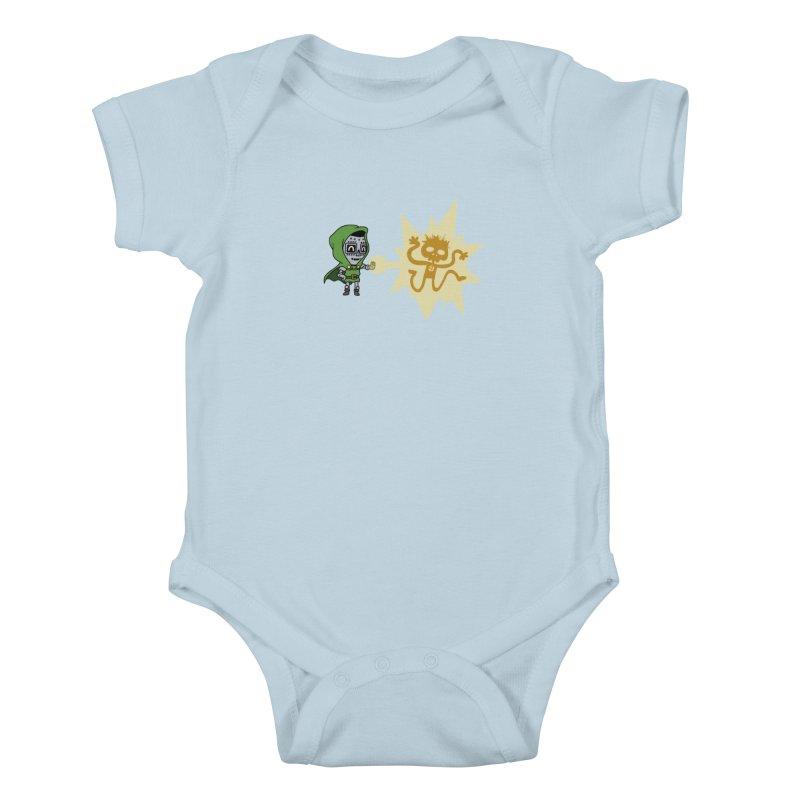 Dr Doom, P.H.D. Kids Baby Bodysuit by Sketchbookery!