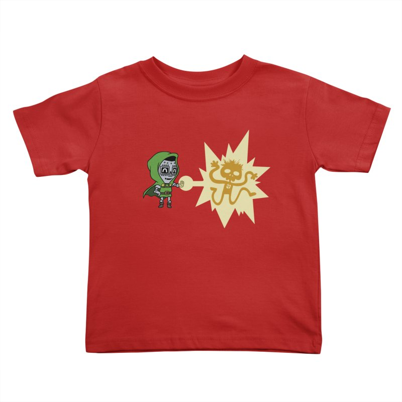 Dr Doom, P.H.D. Kids Toddler T-Shirt by Sketchbookery!