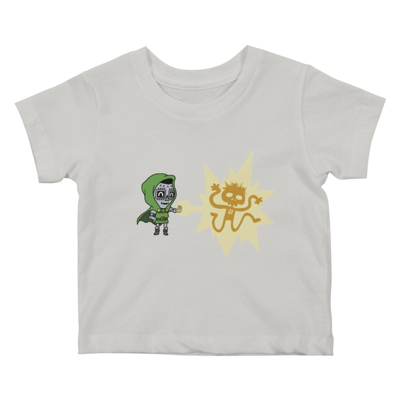Dr Doom, P.H.D. Kids Baby T-Shirt by Sketchbookery!
