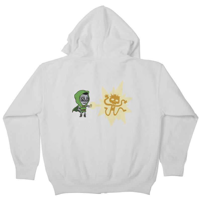 Dr Doom, P.H.D. Kids Zip-Up Hoody by Sketchbookery!
