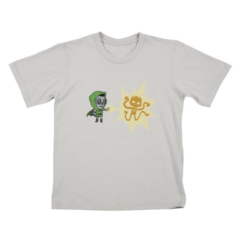 Dr Doom, P.H.D. Kids T-shirt by Sketchbookery!