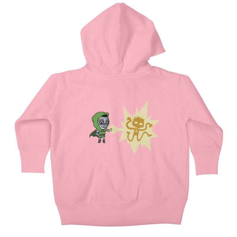 Dr Doom, P.H.D. Kids Baby Zip-Up Hoody by Sketchbookery!