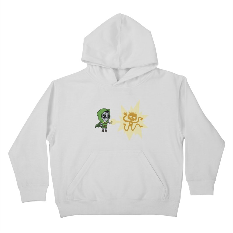 Dr Doom, P.H.D. Kids Pullover Hoody by Sketchbookery!