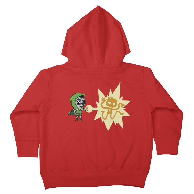 Dr Doom, P.H.D. Kids Toddler Zip-Up Hoody by Sketchbookery!