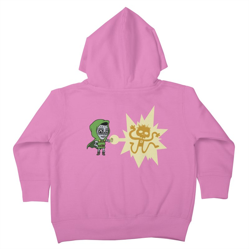 Dr Doom, P.H.D. Kids Toddler Zip-Up Hoody by Sketchbookery!