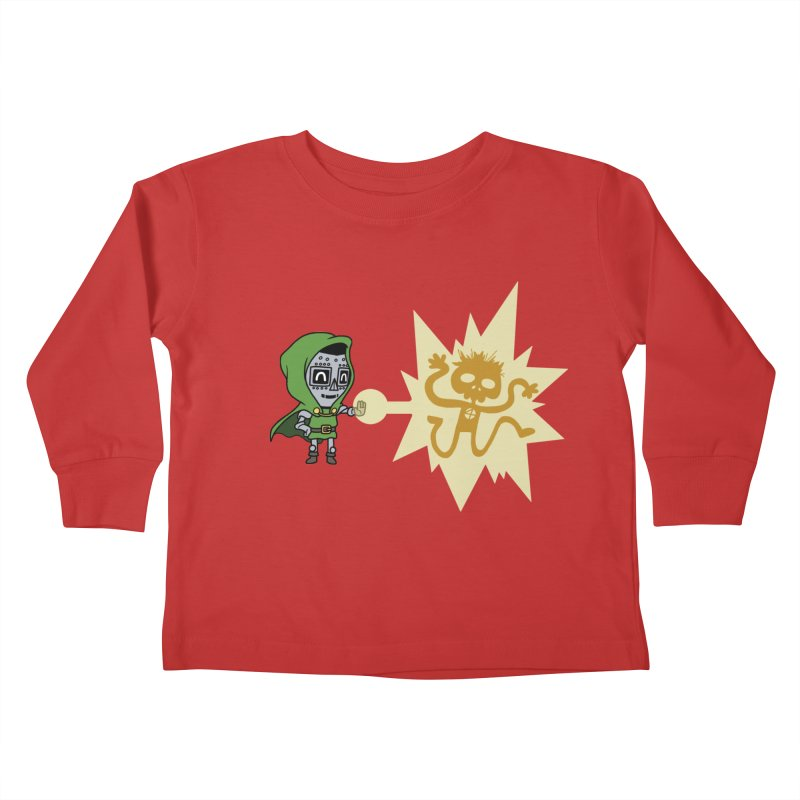 Dr Doom, P.H.D. Kids Toddler Longsleeve T-Shirt by Sketchbookery!