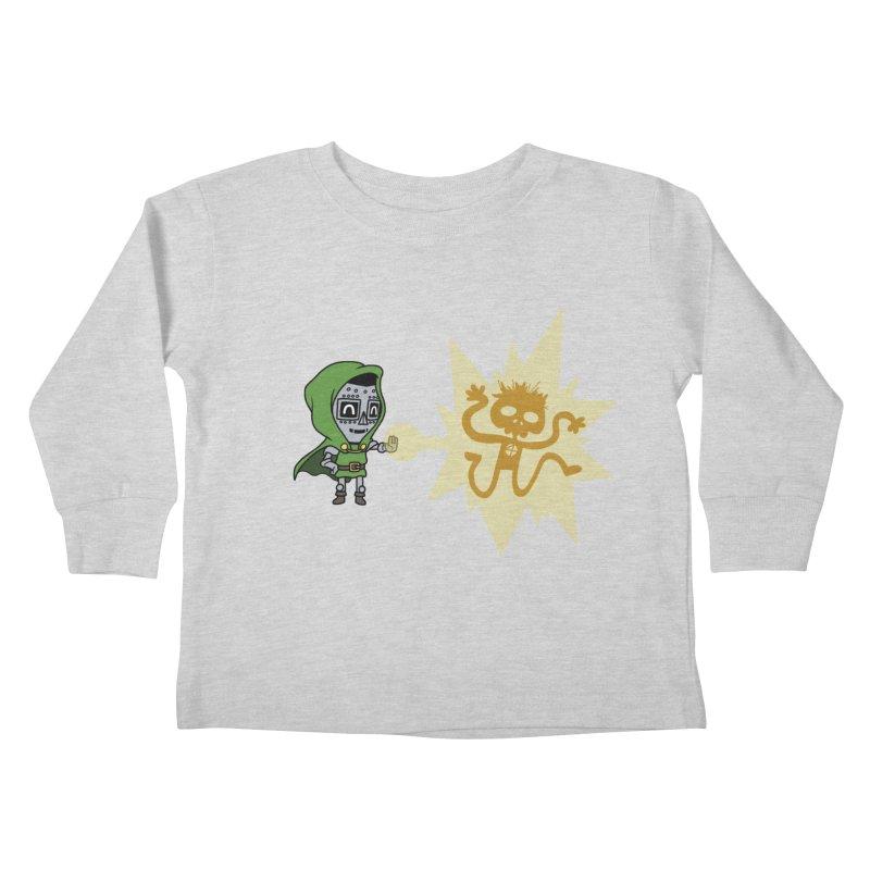Dr Doom, P.H.D. Kids Toddler Longsleeve T-Shirt by Sketchbookery!