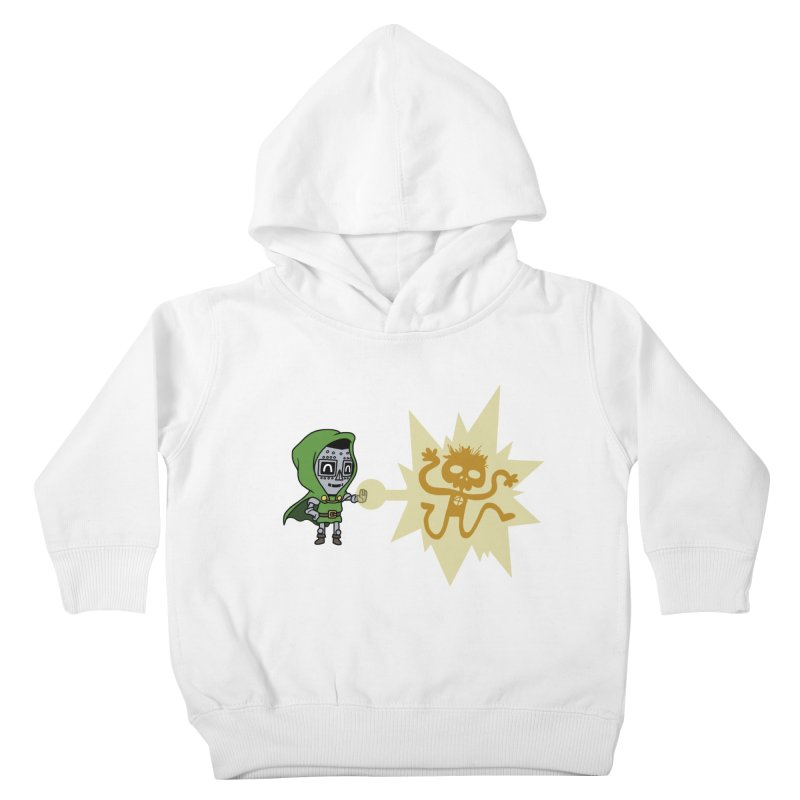 Dr Doom, P.H.D. Kids Toddler Pullover Hoody by Sketchbookery!