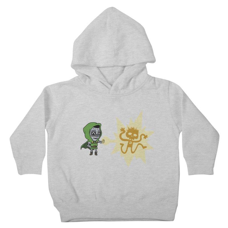 Dr Doom, P.H.D. Kids Toddler Pullover Hoody by Sketchbookery!