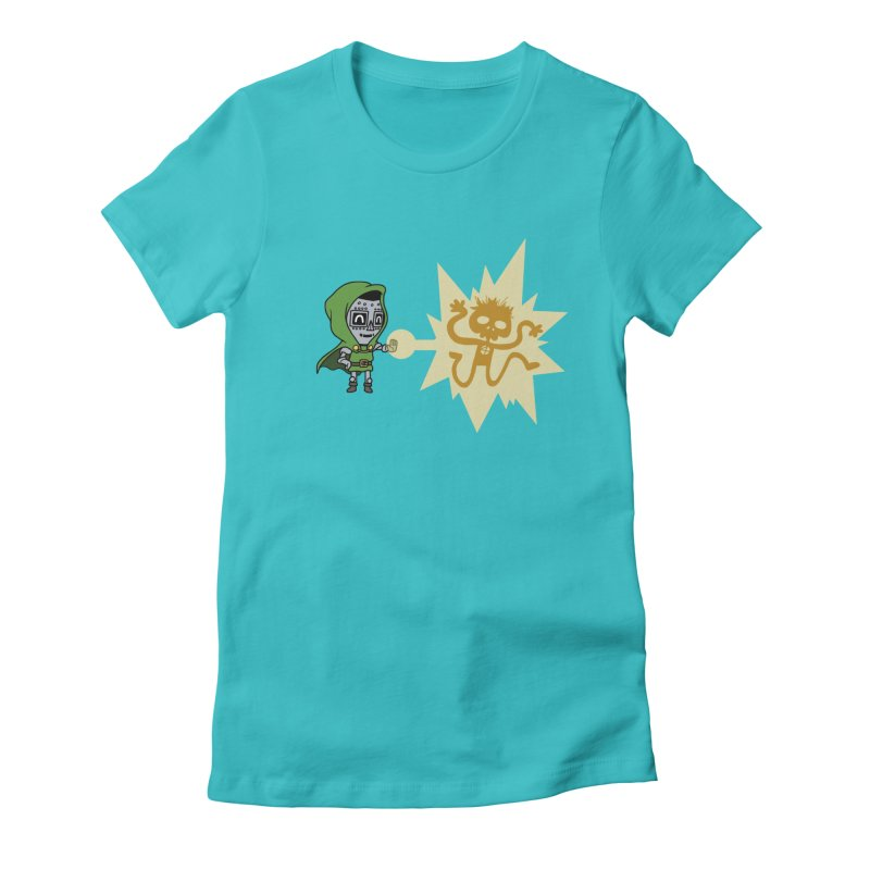 Dr Doom, P.H.D. Women's Fitted T-Shirt by Sketchbookery!