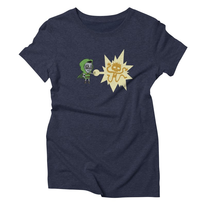 Dr Doom, P.H.D. Women's Triblend T-shirt by Sketchbookery!
