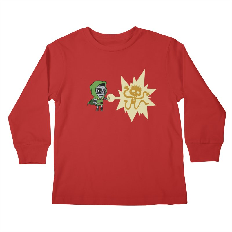 Dr Doom, P.H.D. Kids Longsleeve T-Shirt by Sketchbookery!