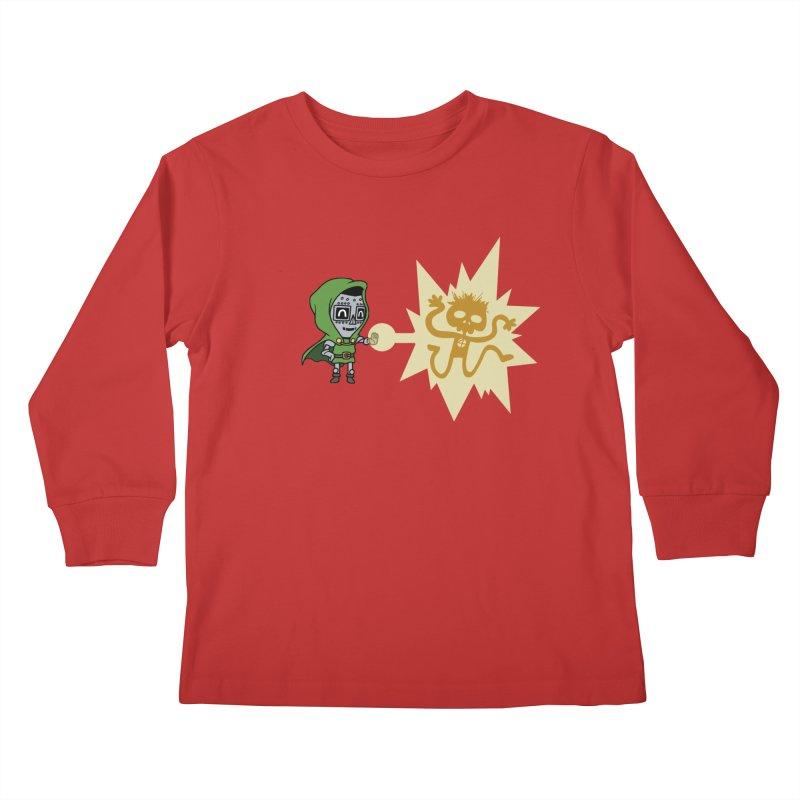 Dr Doom, P.H.D. Kids Longsleeve T-Shirt by Sketchbookery!