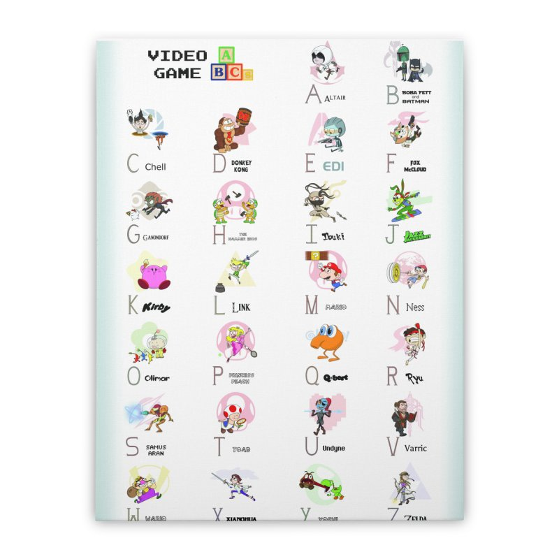 Video Game ABCs Home Stretched Canvas by Sketchbookery!