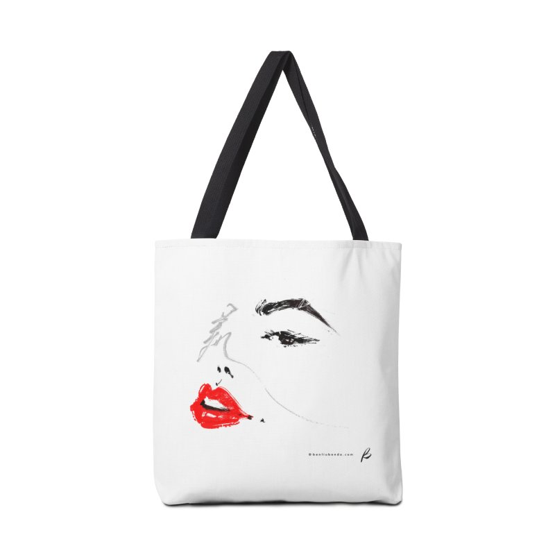 LIPS - 美 Accessories Tote Bag Bag by B - art Boutique by Ben Liu