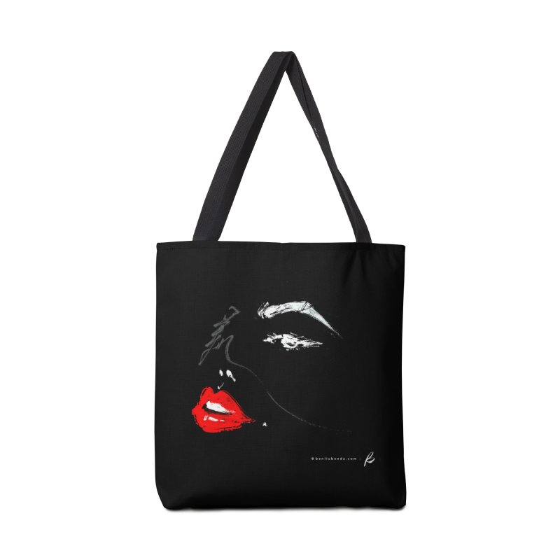 LIPS - 美 - Black Accessories Tote Bag Bag by B - art Boutique by Ben Liu