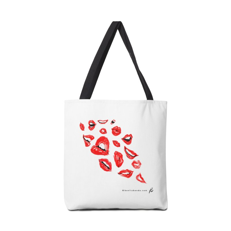 RED LIPS Accessories Bag by B - art Boutique by Ben Liu