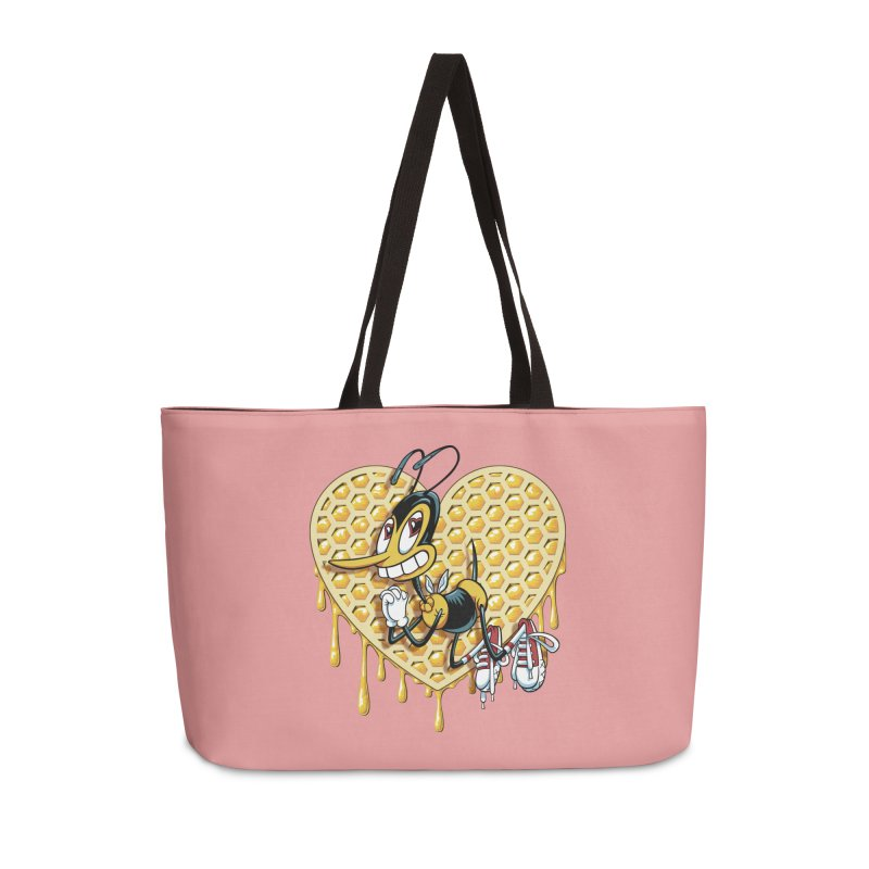 Honeycomb Heart Accessories Weekender Bag Bag by bennygraphix's Artist Shop