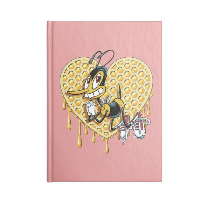 Honeycomb Heart Accessories Lined Journal Notebook by bennygraphix's Artist Shop