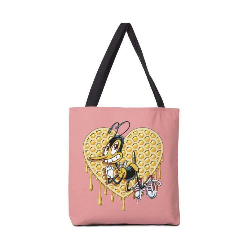 Honeycomb Heart Accessories Tote Bag Bag by bennygraphix's Artist Shop