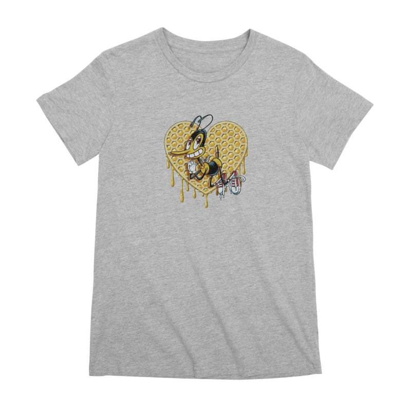 Honeycomb Heart Women's Premium T-Shirt by bennygraphix's Artist Shop