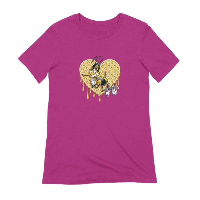 Honeycomb Heart Women's Extra Soft T-Shirt by bennygraphix's Artist Shop