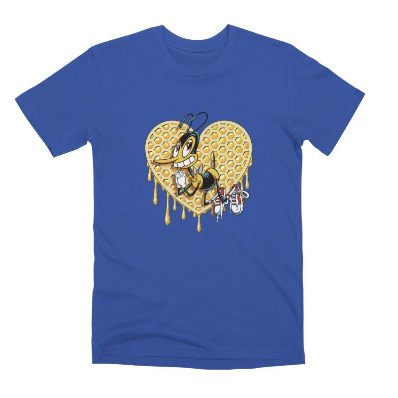 Honeycomb Heart Men's Premium T-Shirt by bennygraphix's Artist Shop