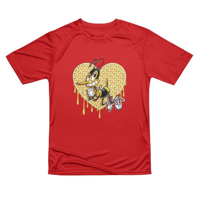Honeycomb Heart Men's Performance T-Shirt by bennygraphix's Artist Shop