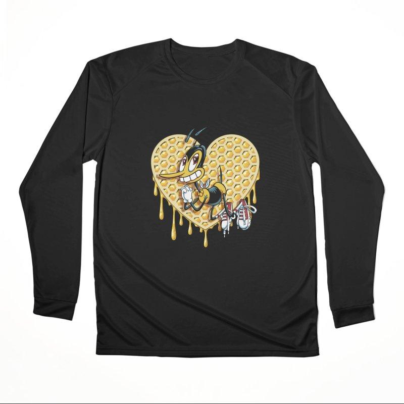 Honeycomb Heart Men's Performance Longsleeve T-Shirt by bennygraphix's Artist Shop