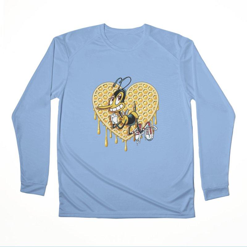 Honeycomb Heart Women's Performance Unisex Longsleeve T-Shirt by bennygraphix's Artist Shop