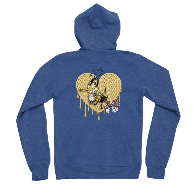 Honeycomb Heart Men's Sponge Fleece Zip-Up Hoody by bennygraphix's Artist Shop