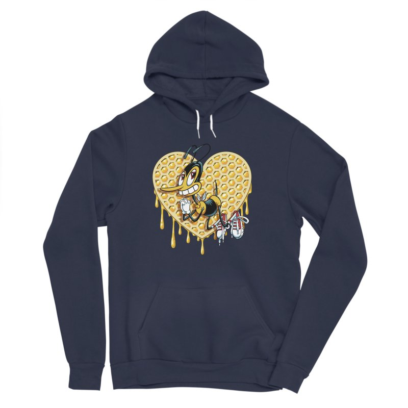Honeycomb Heart Men's Sponge Fleece Pullover Hoody by bennygraphix's Artist Shop